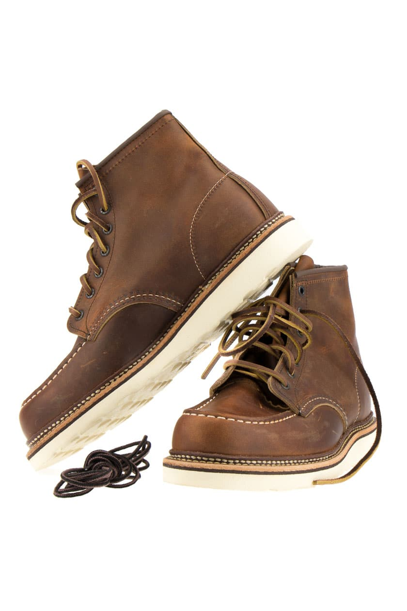 red wing 1907 moc toe stiefel copper rough tough braun p2 mode accessoires. Black Bedroom Furniture Sets. Home Design Ideas