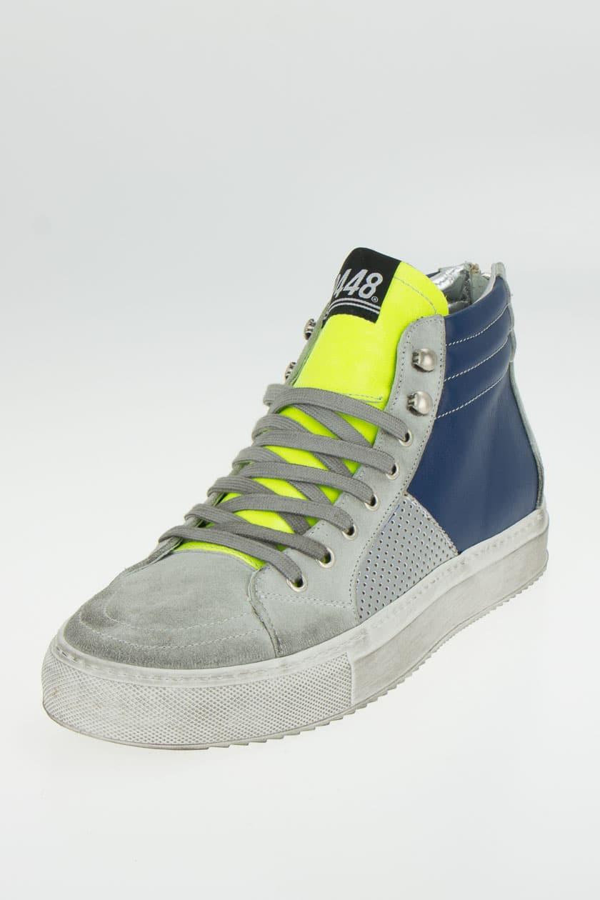 P448 E7 NYC Sneaker high back Zip Männer blau gelb | P2MODE & ACCESSOIRES