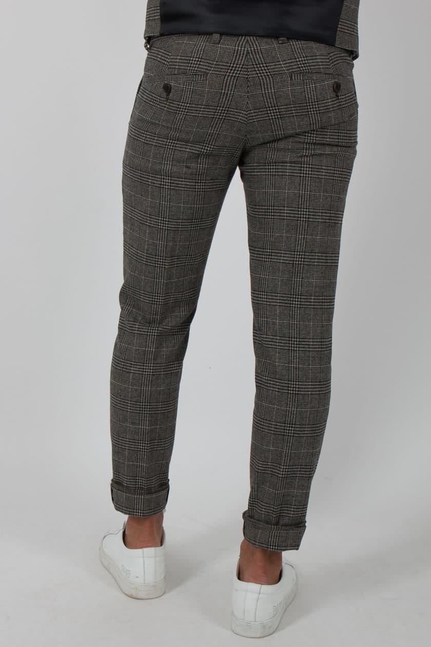 60a96aee33df Drykorn 112856 Sight Hose Männer Glenchek Wool 17 grau braun | P2/MODE &  ACCESSOIRES
