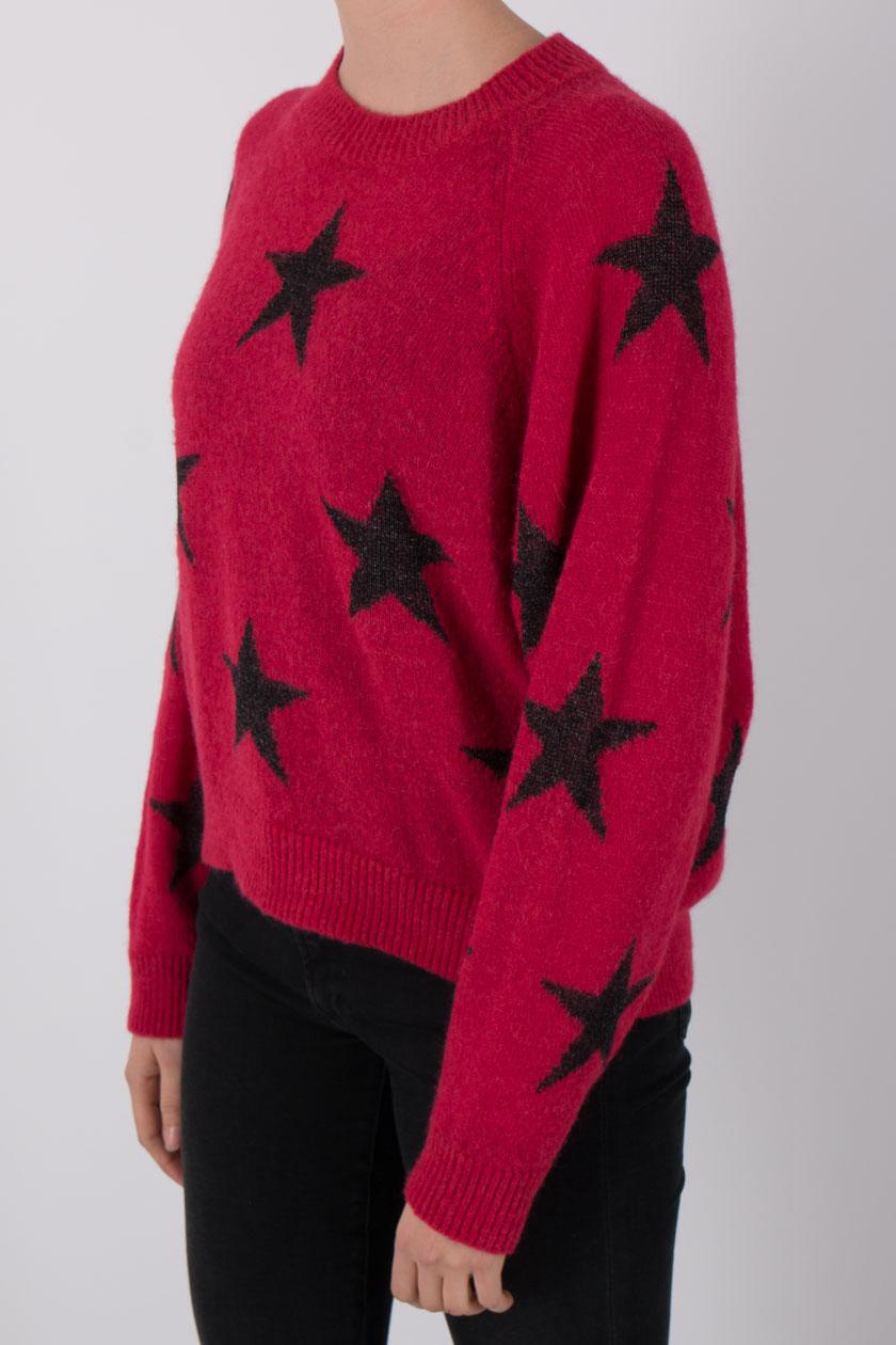quality design 5b246 61b4b Drykorn Damia Pullover Frauen Sterne Alpaca Mix rot | P2/MODE & ACCESSOIRES