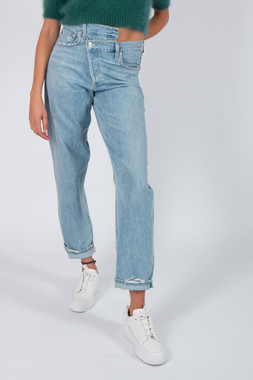 31a3817f37552 ... AGOLDE Criss Cross Jeans Damen Suburbia blau. Created with Sketch.
