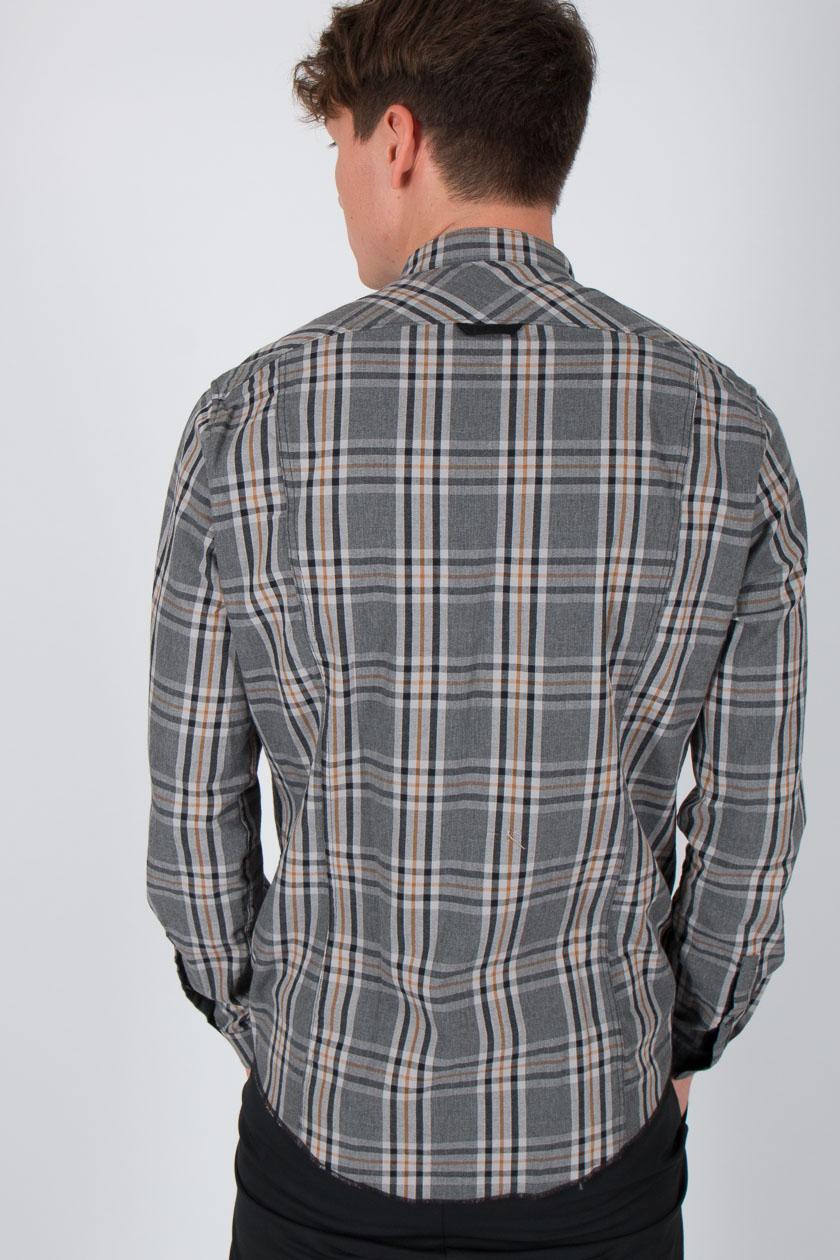 6b91d08eed47 Drykorn 318255 Keez Caro Hemd Männer grau schwarz senf | P2/MODE ...